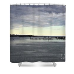Swirling Currents On Casco Bay Shower Curtain