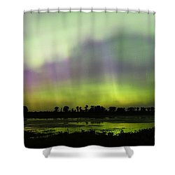 Shower Curtain featuring the photograph Swirling Curtains 2 by Larry Ricker