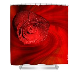 Swirling Rose Shower Curtain