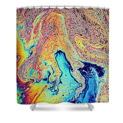 Shower Curtain featuring the photograph Swirling Soap by Jean Noren