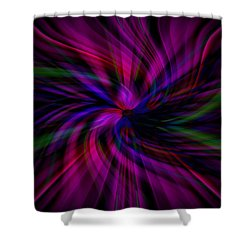 Swirls Shower Curtain by Cherie Duran