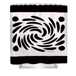Swirls N Dots 56 Shower Curtain