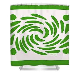 Swirls N Dots S1 Shower Curtain