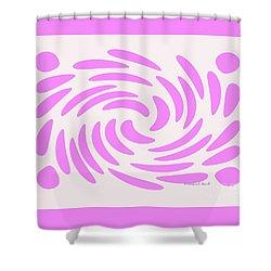 Swirls N Dots S4 Shower Curtain