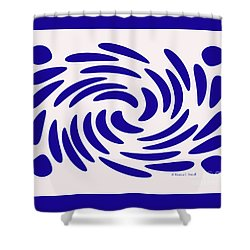 Swirls N Dots S7 Shower Curtain
