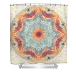 Swirls Of Love Mandala Shower Curtain