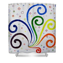 Shower Curtain featuring the painting Swirls by Sonali Gangane