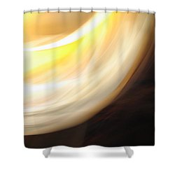 Yellow Bands Of Light Shower Curtain