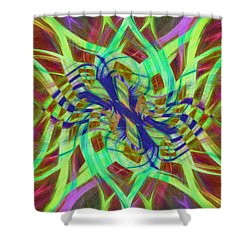 Swirly Floral Mandala 01 Shower Curtain