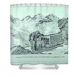 Swiss Alpine Cabin Shower Curtain