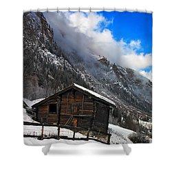 Swiss Barn Shower Curtain