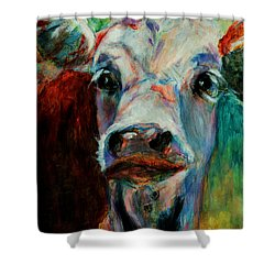 Swiss Cow - 1 Shower Curtain
