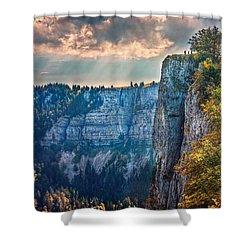Swiss Grand Canyon Shower Curtain