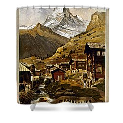 Swiss Travel Poster, 1898 Shower Curtain by Granger