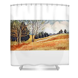 Switchboard Rd Shower Curtain by Katherine Miller