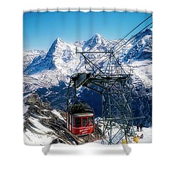 Switzerland Alps Schilthorn Bahn Cable Car  Shower Curtain
