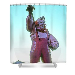 Sword Swallower Shower Curtain by Laurie Stewart