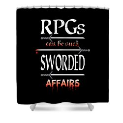 Sworded Affairs Shower Curtain