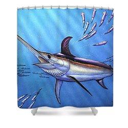 Swordfish In Freedom Shower Curtain