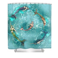 Sychronized Swimming Shower Curtain