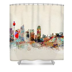 Shower Curtain featuring the painting Sydney Australia by Bri B