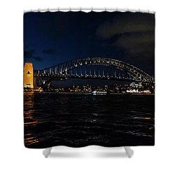 Sydney Bridge At Night Shower Curtain