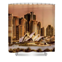 Shower Curtain featuring the photograph Sydney Cityscape by Wallaroo Images