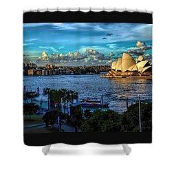 Sydney Harbor And Opera House Shower Curtain by Diana Mary Sharpton