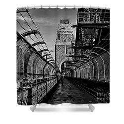 Sydney Harbor Bridge Bw Shower Curtain by Diana Mary Sharpton