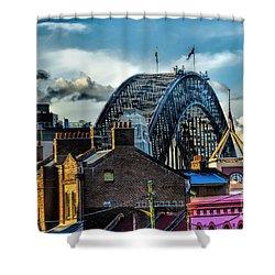 Sydney Harbor Bridge Shower Curtain by Diana Mary Sharpton