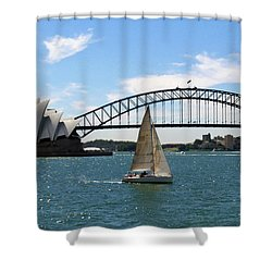 Sydney Harbour No. 1 Shower Curtain by Sandy Taylor