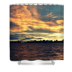 Sydney Harbour At Sunset Shower Curtain