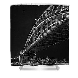 Sydney Harbour Bridge At Night Shower Curtain