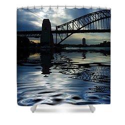 Sydney Harbour Bridge Reflection Shower Curtain by Avalon Fine Art Photography
