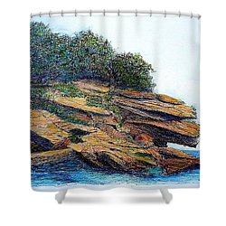 Sydney Harbour Foreshore Shower Curtain