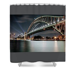 Sydney Harbour Lights Shower Curtain