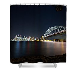 Sydney Harbour Silk Shower Curtain
