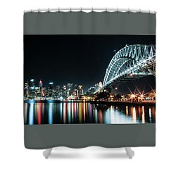 Sydney Harbour Sparkle Shower Curtain