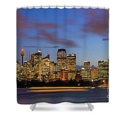 Sydney Harbour Sunset Shower Curtain