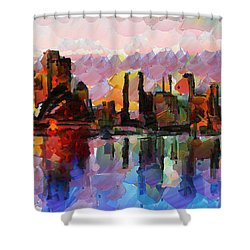 Sydney Here I Come Shower Curtain by Sir Josef - Social Critic -  Maha Art