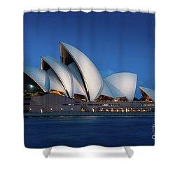 Sydney Opera House After Dark Shower Curtain