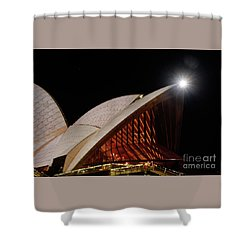 Shower Curtain featuring the photograph Sydney Opera House Close View By Kaye Menner by Kaye Menner