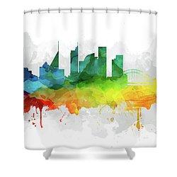 Sydney Skyline Mmr-ausy05 Shower Curtain by Aged Pixel
