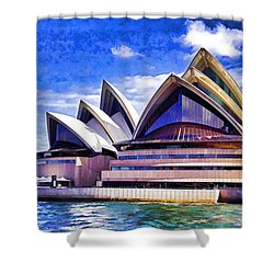 Sydney Symbol Shower Curtain by Dennis Cox WorldViews