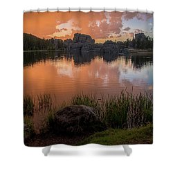 Shower Curtain featuring the photograph Sylvan Lake by Gary Lengyel