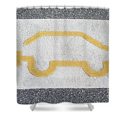 Symbol For Electric Car Shower Curtain
