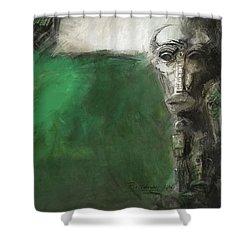 Symbol Mask Painting - 03 Shower Curtain by Behzad Sohrabi