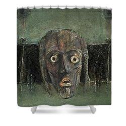 Symbol Mask Painting - 05 Shower Curtain by Behzad Sohrabi