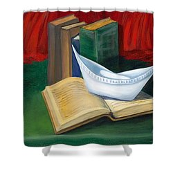 Shower Curtain featuring the painting Symbol Of A Proud Profession V by Marlyn Boyd