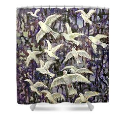 Symbol  Of Peace Shower Curtain